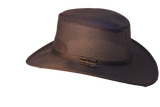 "Black Hat Sale/Clearance Canvas Cooler Hat, Lightweight "" River "" Made in USA."