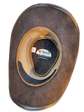 Exotic Lizard band Buffalo Oiled Leather Hat. 100% Made in USA Born Proud
