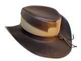 Exotic Lizard band Buffalo Oiled Leather Hat. 100% Made in USA Born Proud - The Walkabout Company