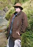 Distressed Hunting Jacket Kakadu Kings Cross Scrubbed oilskin. Pre washed - The Walkabout Company