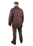 Mid Calf Jacket Kakadu Ottways Jacket with Cowhide all weather collar - The Walkabout Company
