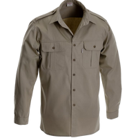 Ruggedwear Maun Long Sleeve Safari Shirt. Stone & Olive 6.5 oz We are proudly South African - The Walkabout Company