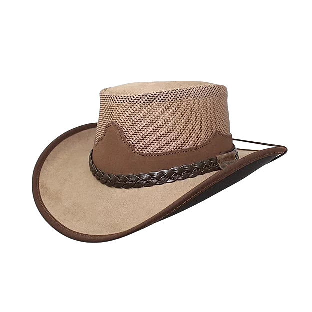 Montana Leather Mesh by Walkabout. Shapeable Brim & Waterproof - The Walkabout Company