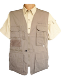 Safari Vest, Photographers Vest 100% Cotton 7.5 oz. Ton of Features - The Walkabout Company