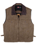 Conceal Carry Vest, 12 oz Worn dry Oilcloth Canvas - The Walkabout Company