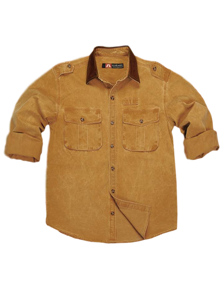 Southern Cross Shirt, Tough as Nails 12 Oz Dry Oilcloth Gravel Cotton - The Walkabout Company