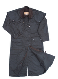 Snowy River Long Riding Coat. Outback Trail Waterproof Oilcloth Duster Coat - The Walkabout Company
