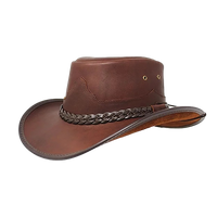 Buffalo Oiled Leather Hat. 100% Made in USA Born Proud New 2019 - The Walkabout Company