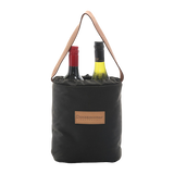 Wine / Drink Bottle Carrier Bag. Made in Australia insulated Oilcloth wool lined