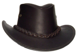Australian Premium Leather Hat. Gambler Style from Down Under, Soft & Crushable - The Walkabout Company