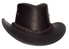 Australian Premium Leather Hat. Full Grain Waterbuffalo Gambler Style from Down Under