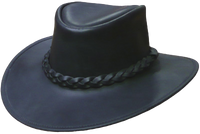 Australian Premium Leather Hat. Full Grain Waterbuffalo Traditional Style from Down Under - The Walkabout Company
