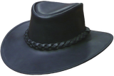 Australian Premium Leather Hat. Full Grain Traditional Style from Down Under - The Walkabout Company