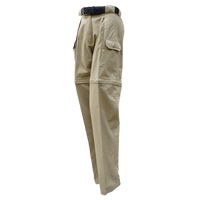 Ladies Safari Pants/Shorts. Zip Off Legs 100% Cotton Pro Series Made in Africa - The Walkabout Company