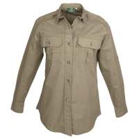 Pro Ladies Trail Long Sleeve Safari Shirt. 5.5 oz Cotton - The Walkabout Company