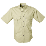 Tag Mens Trail Short Sleeve Safari Shirt. Lightweight 5.5 Oz Cotton - The Walkabout Company