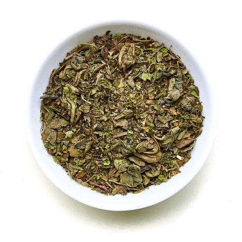 Minty Marrakech - Smoky Gunpowder Green Tea with mint leaves