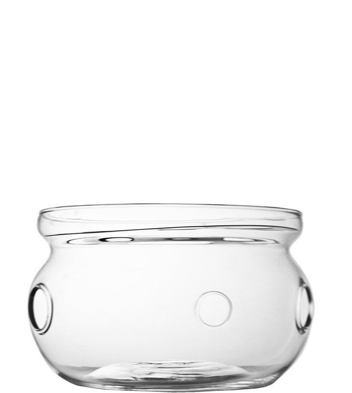 Tea warmer single walled glass