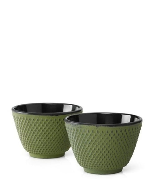 Cast Cup Xilin Iron Green set of 2