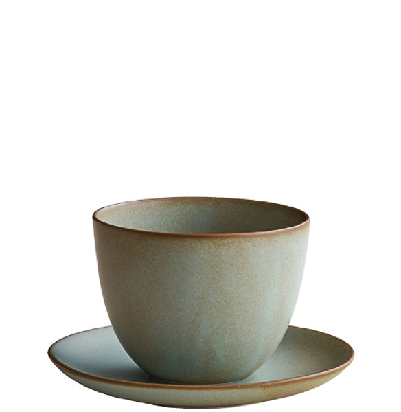 Pebble Cup & Saucer Moss Green | T's Teabar & Loose Leaf Tea