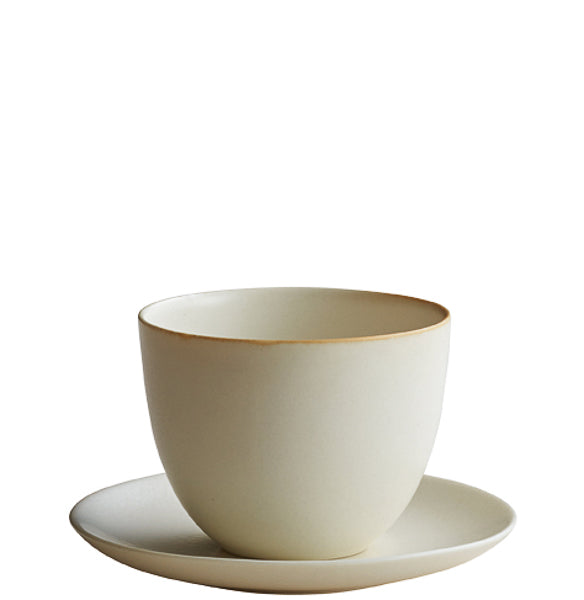 Pebble Cup & Saucer White