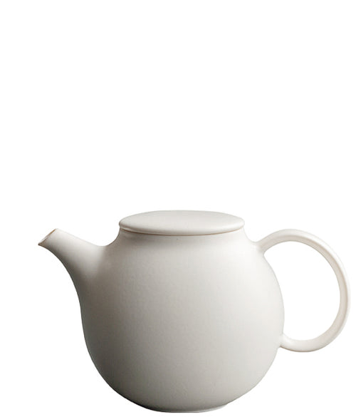 Pebble Teapot White | T's Teabar & Loose Leaf Tea