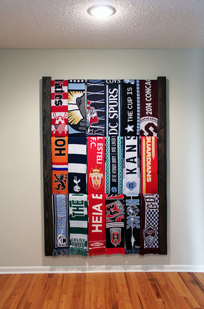 Nou Soccer Scarf Display Rack Front View