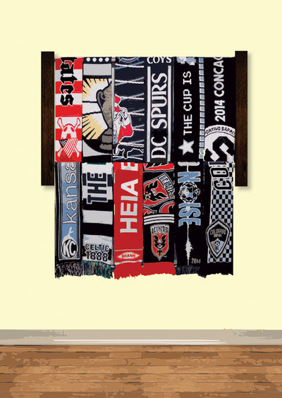 Siro Soccer Scarf Display Rack Option Two