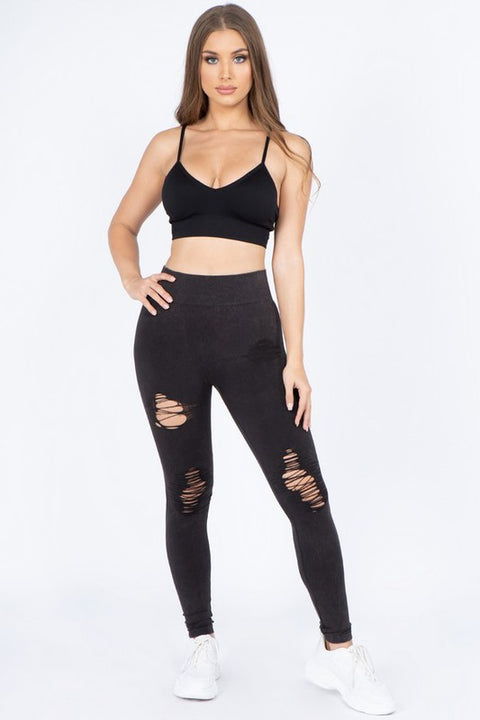 Moto Accent Leggings