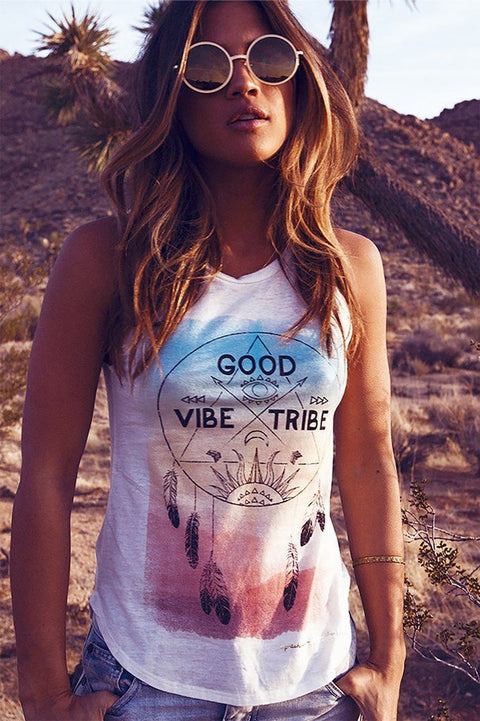 Spiritual Gangster Vibe Tribe Dreamcatcher Muscle Tank Stardust