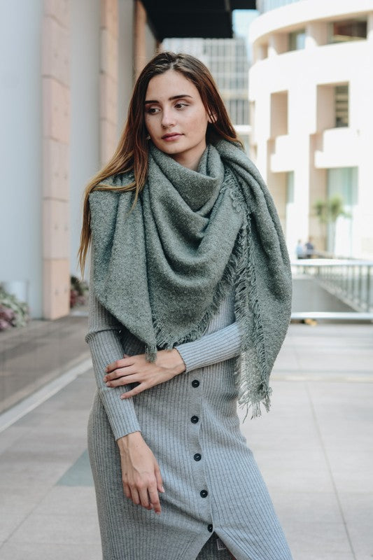 Mohair Square Blanket Scarf