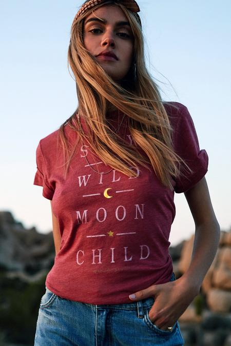 Spiritual Gangster Stay Wild Moon Child Rec Tee