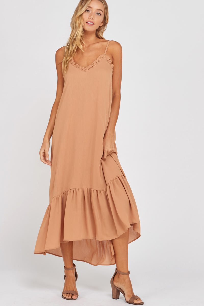 Ruffle Edge Maxi Dress