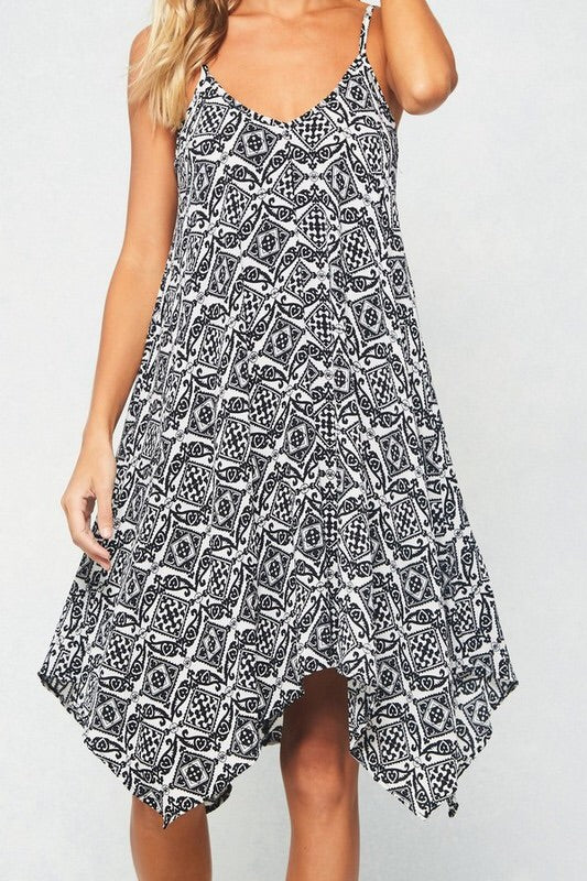 Patterned Midi Dress