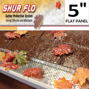 "[266] 5"" Shurflo Flat Aluminum Leaf Guard Gutter Covers"