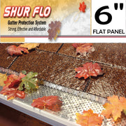 "[267] 6"" Shurflo Flat Aluminum Leaf Guard Gutter Covers"