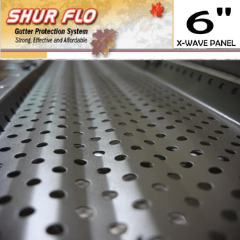 "[271] 6"" Shurflo X-Wave Aluminum Leaf Guard Gutter Covers"