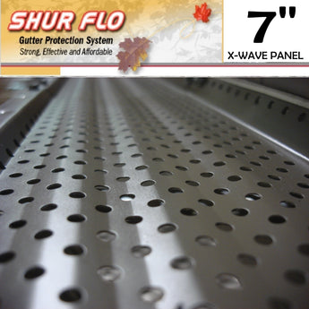 "[341] 7"" Shurflo X-Wave Aluminum Leaf Guard Gutter Covers"