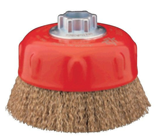 "Jaz 64050 Cup Brush Crimped 4"" Crimped Wheel 0.020 Steel 5/8-11 hub / M14"