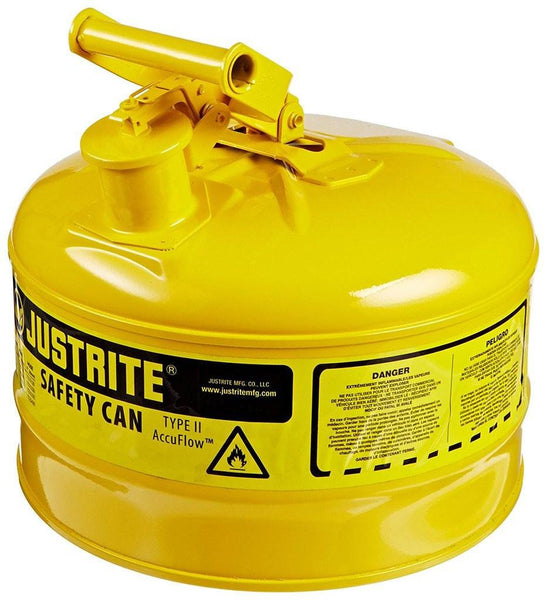 Justrite 7125200 Type I Safety Can, 2.5 Gallon