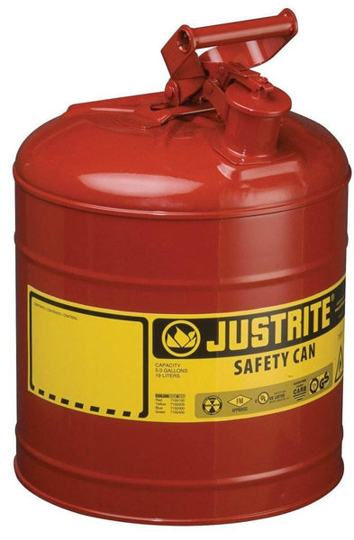 Justrite 7150100 Type I Safety Can, 5 Gallon