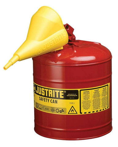 Justrite 7150110 Type I Safety Can, 5 Gallon