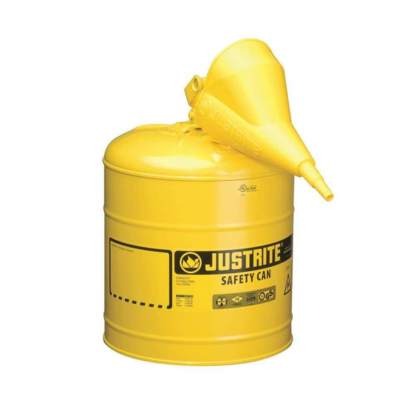 Justrite 7150210 Type I Safety Can, 5 Gallon