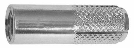 "1/2""  x 2"" Knurled Drop-In Anchors"