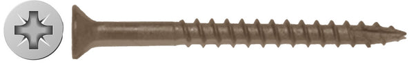 "#7 X 1-1/4"" Combo Drive Flat Tan Deck Screw Long Life"