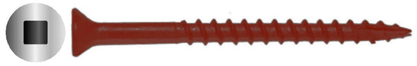 "#10 X 3-1/2"" Square Drive Flat Red Deck Screw Long Life"