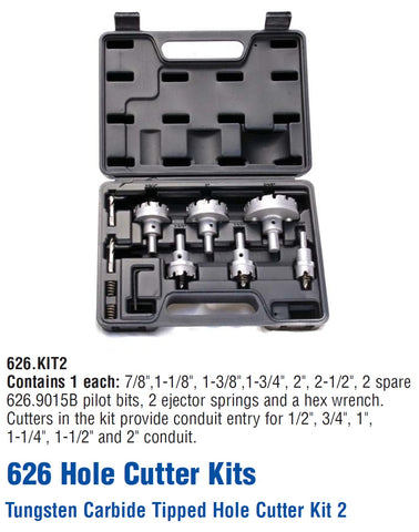 Mag-Bit 626.KIT2 Tungsten Carbide-Tipped Hole Cutter Kit 2
