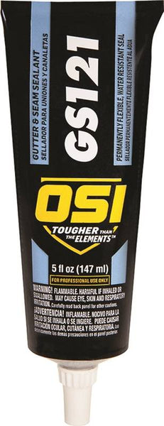 OSI 121 Gutter Sealer |5oz Tube | White | Case Qty 24