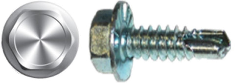 "#10 X 2-1/2"" Hex Washer Head Self-Drilling Screw Zinc"