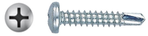 "#10 X 1-1/2"" Phillips Pan Self-Drilling Screw Zinc"